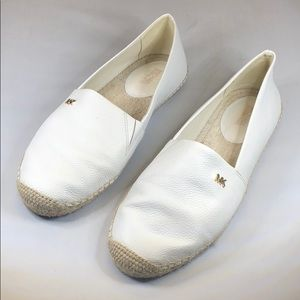 (p251) Michael Michael Kors Slip-on Flats White 8M